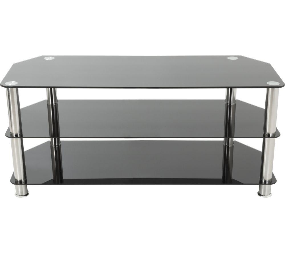 AVF SDC1000 TV Stand - Black & Chrome