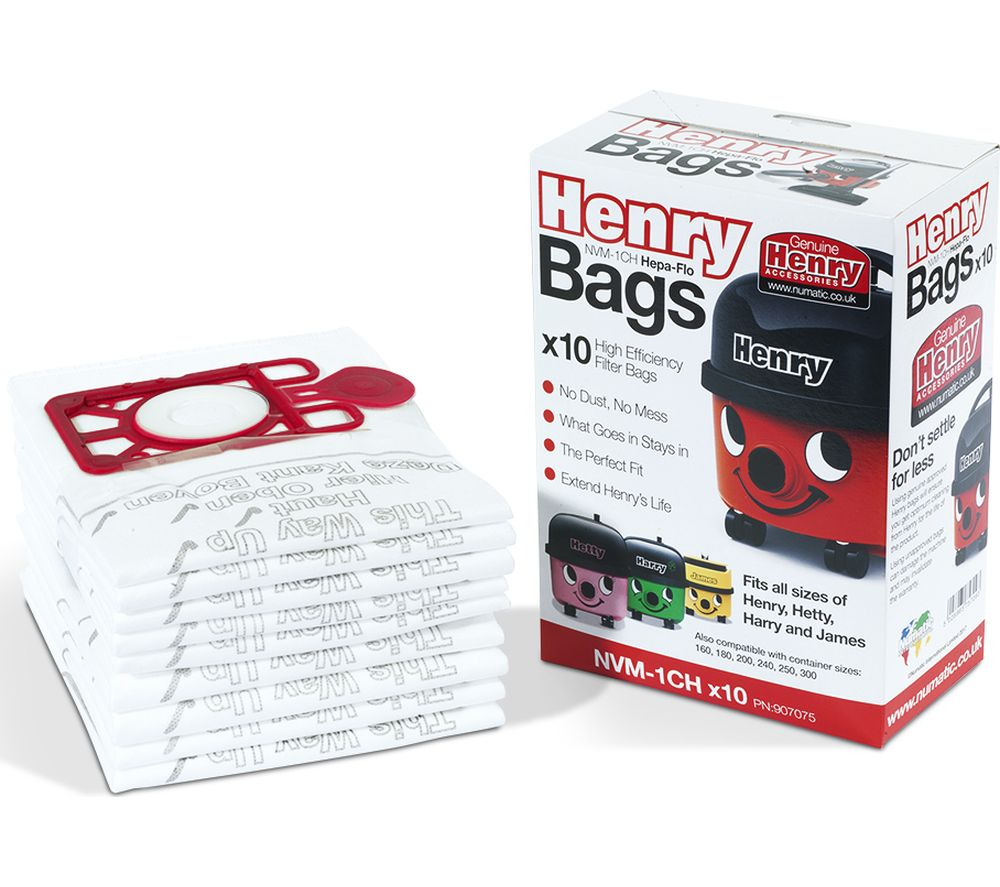NUMATIC Genuine Henry Dust Bags - Pack of 10