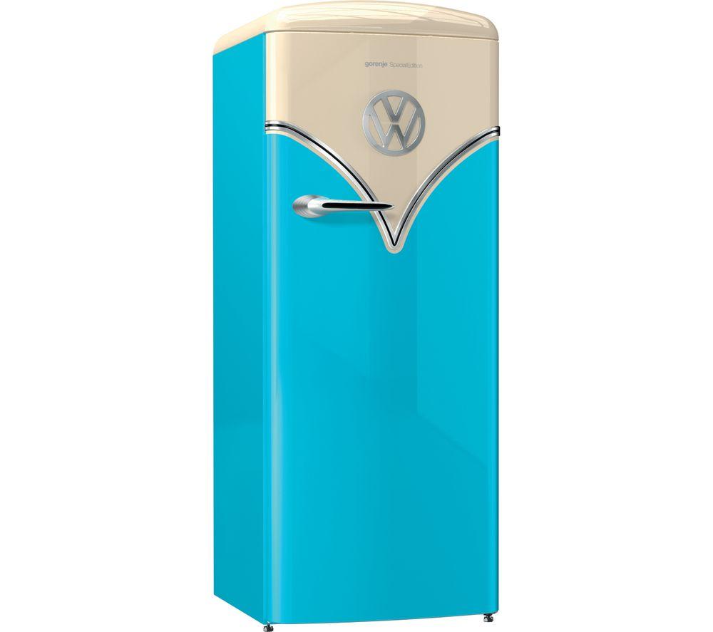 GORENJE Retro Special Edition OBRB153BL Tall Fridge – Blue, Blue