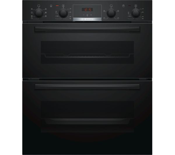 Image of BOSCH Serie 4 NBS533BB0B Electric Built-under Double Oven - Black