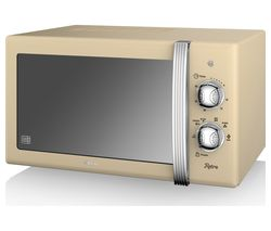 SWAN SM22130CN Solo Microwave - Cream