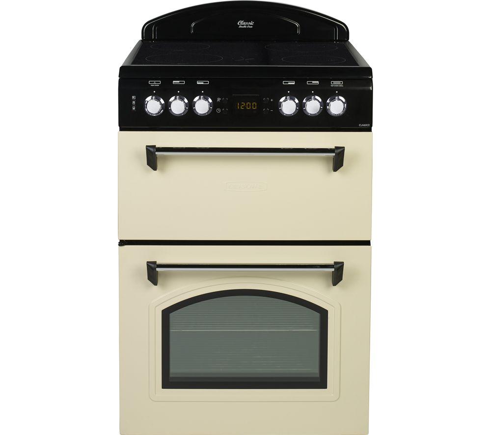 Image of LEISURE CLA60CEC 60 cm Electric Ceramic Cooker - Cream & Black, Cream