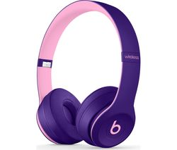 BEATS Solo 3 Wireless Bluetooth Headphones - Pop Violet
