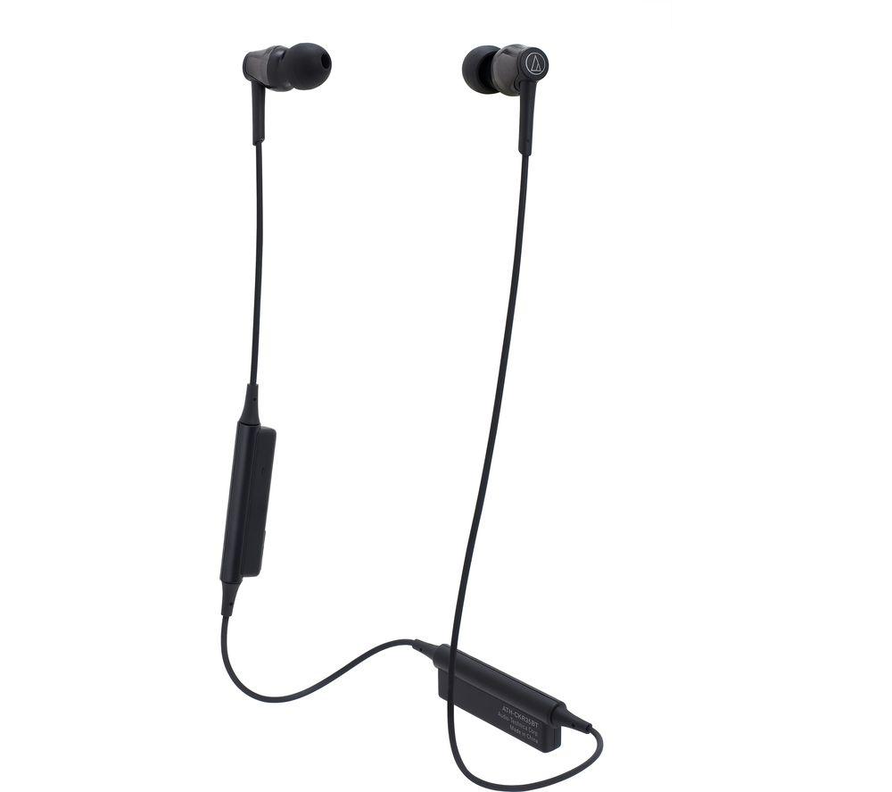 AUDIO TECHNICA ATH-CKR35BT Wireless Bluetooth Headphones - Black, Black