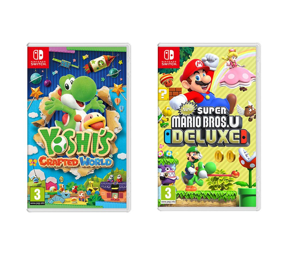 NINTENDO SWITCH New Super Mario Bros  U Deluxe & Yoshi's Crafted World  Bundle