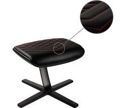 NBL-FR-PU-BR Footrest - Black & Red