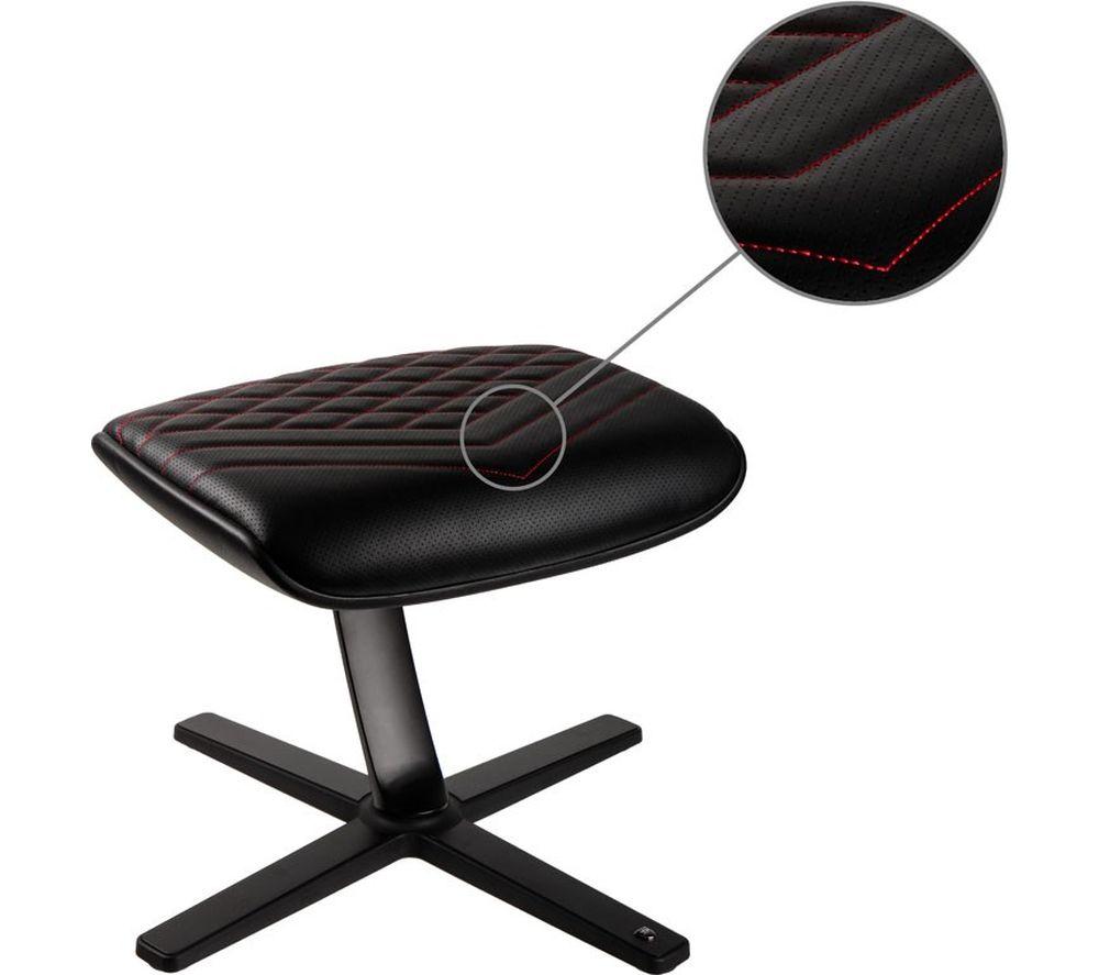 Image of NOBLECHAIRS NBL-FR-PU-BR Footrest - Black & Red, Black