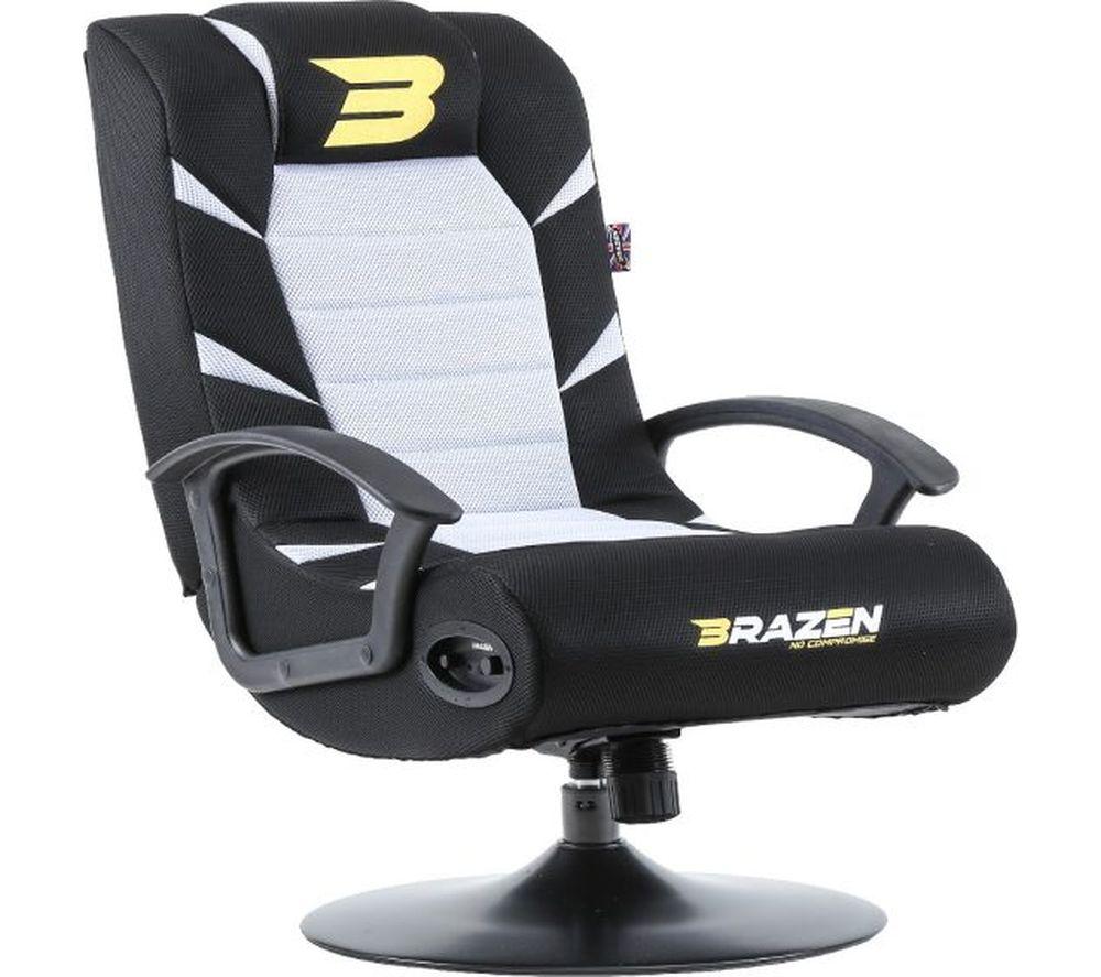 BRAZEN Pride 2.1 Wireless Bluetooth Gaming Chair - White & Black