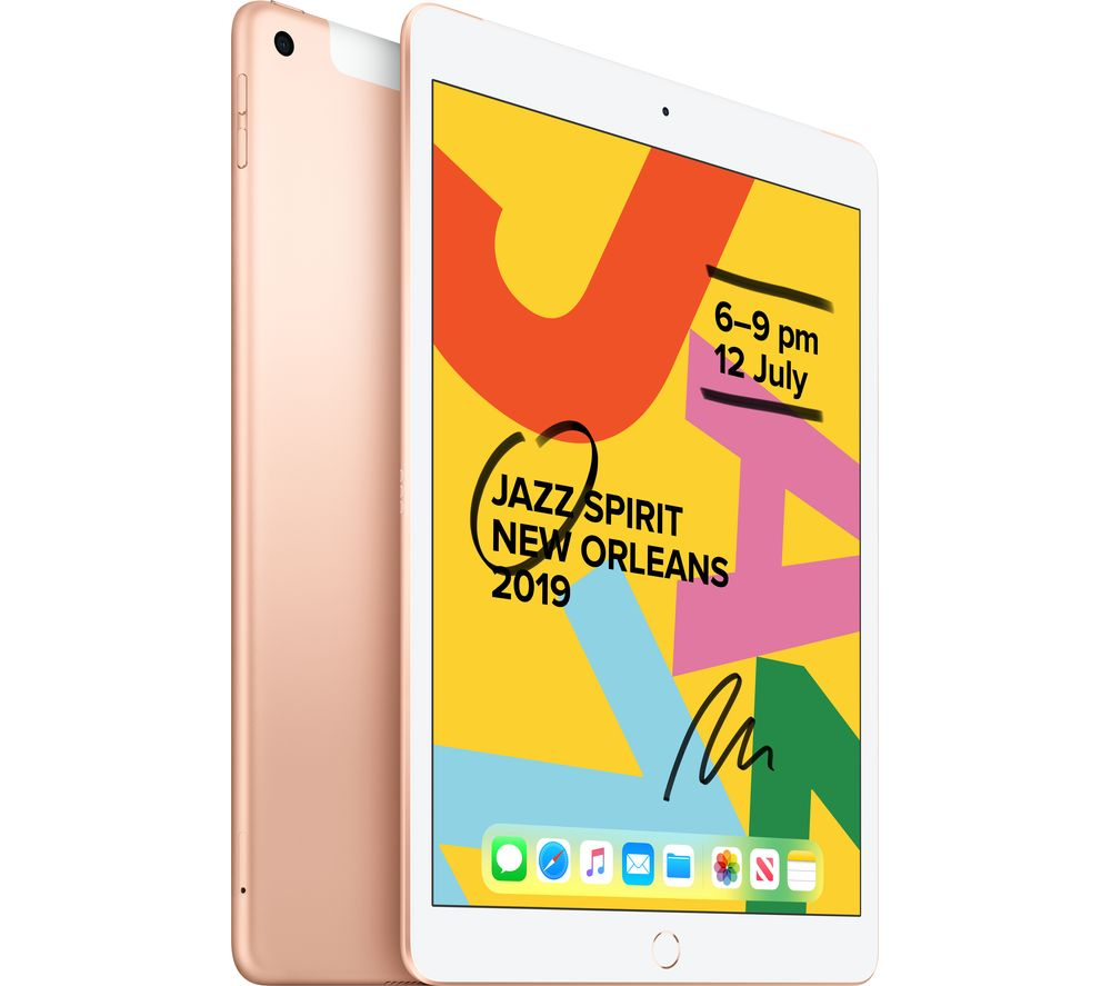 "Image of APPLE 10.2"" iPad Cellular (2019) - 32 GB, Gold, Gold"