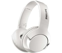 PHILIPS BASS+ SHB3175WT Wireless Bluetooth Headphones - White