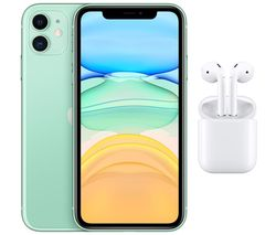 iPhone 11 & AirPods with Charging Case (2nd generation) Bundle - 64 GB, Green