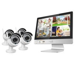 4-Channel HD Ready Wireless All-in-One CCTV Kit - 1 TB, 4 Cameras