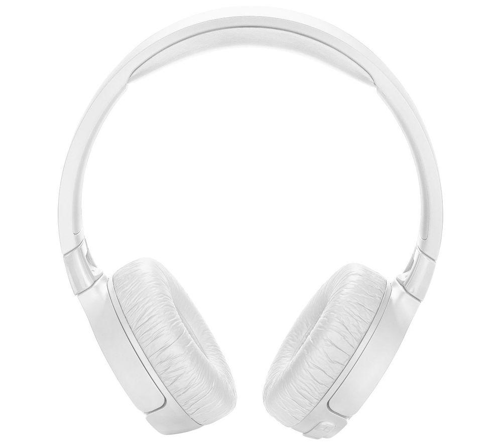Au On-Ear Active Noise-Cancelling Headphones JBL Tune 600BTNC Wireless White