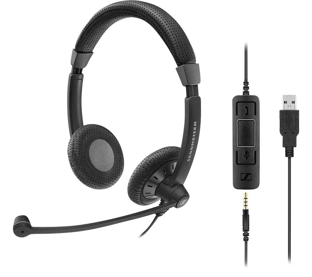 Image of SENNHEISER SC 75 USB MS Headset - Black, Black