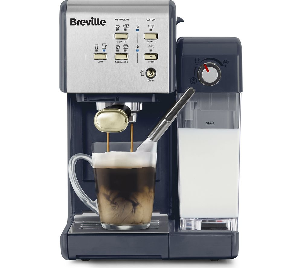 BREVILLE One-Touch CoffeeHouse Coffee Machine - Navy & Gold
