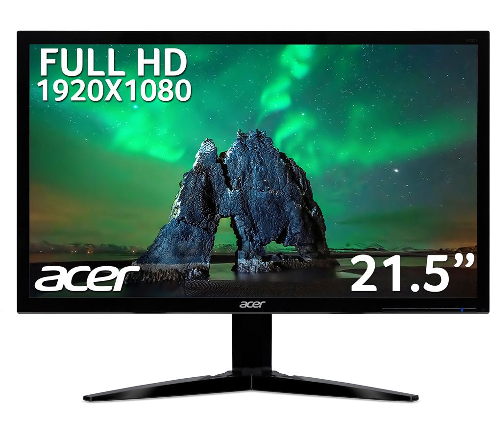 "ACER KG221QAbmix Full HD 21.5"" LED Monitor - Black"