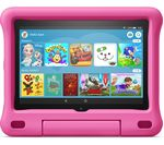 £140, AMAZON Fire HD 8inch Kids Edition Tablet (2020) - 32 GB, Pink, Fire OS 7, HD Ready screen, 32GB storage: Perfect for apps / photos / videos, Battery life: Up to 12 hours, Add more storage with a microSD card,