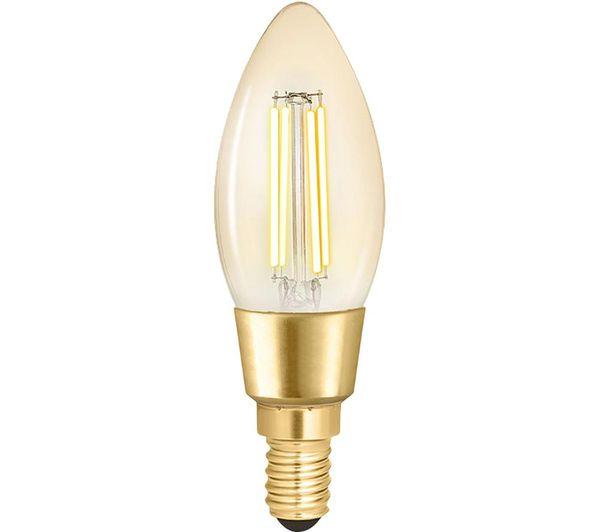 WIZ CONNEC Whites Filament Smart LED Light Bulb - E14, Warm White