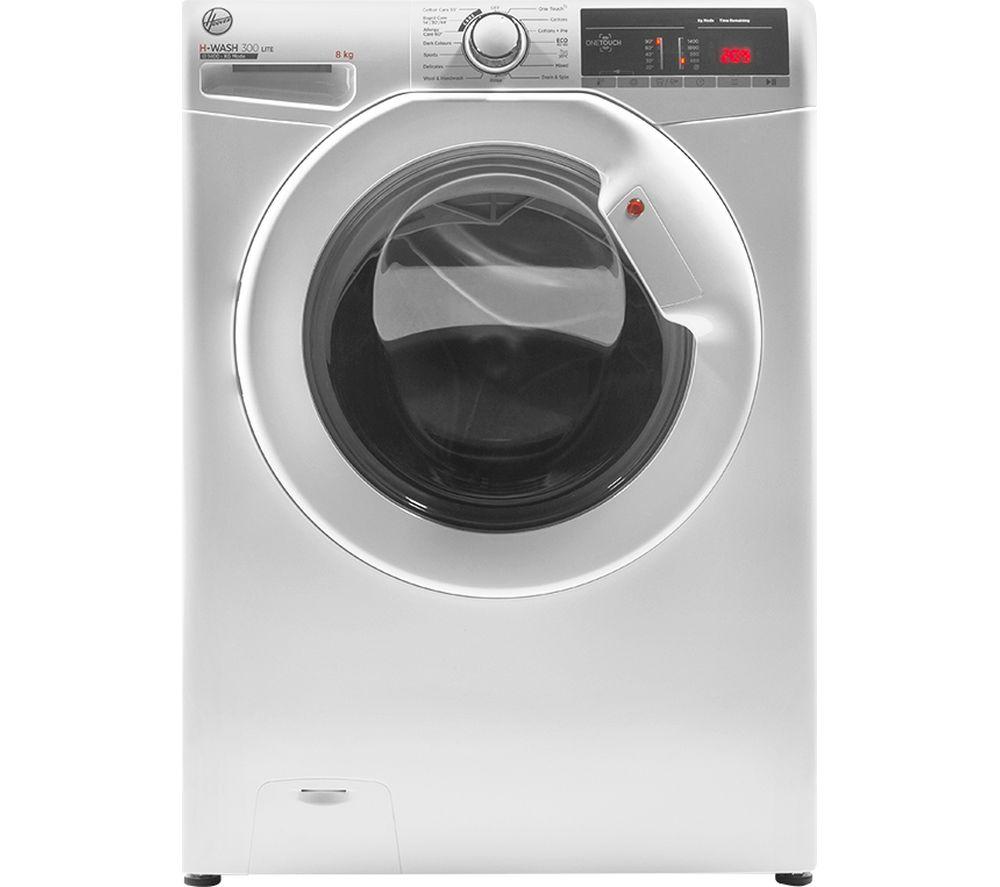 HOOVER H-Wash 300 H3W48TE NFC 8 kg 1400 Spin Washing Machine - White, White