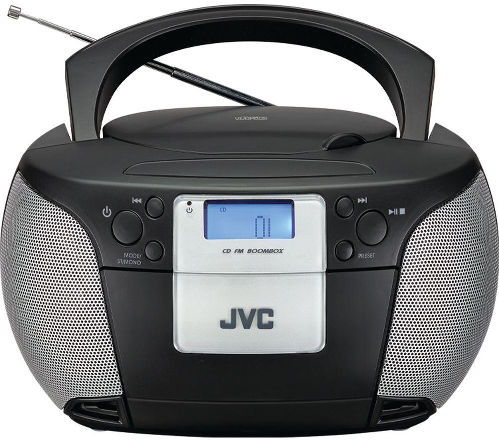 JVC RD-D220B FM Boombox - Black