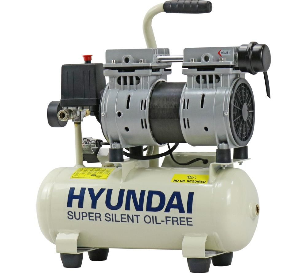 HYUNDAI HY5508 Super Silent Air Compressor - White