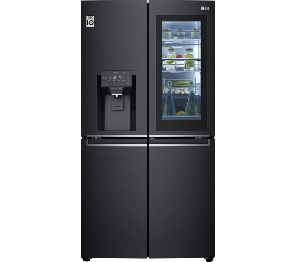 LG InstaView GMX945MC9F American-Style Smart Fridge Freezer - Black, Black