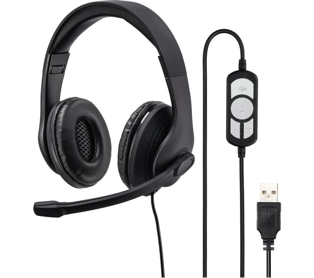 Image of HAMA HS-USB300 Headset - Black, Black