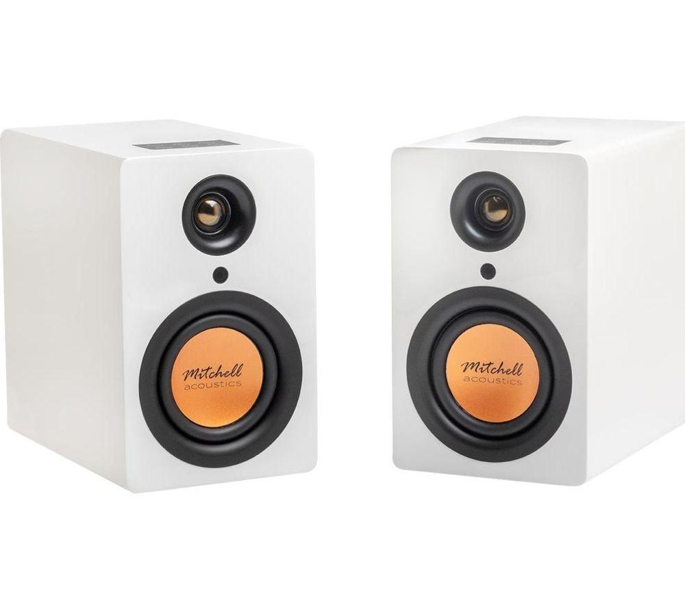 MITCHELL Acoustics uStream One Bluetooth Bookshelf Speakers - White