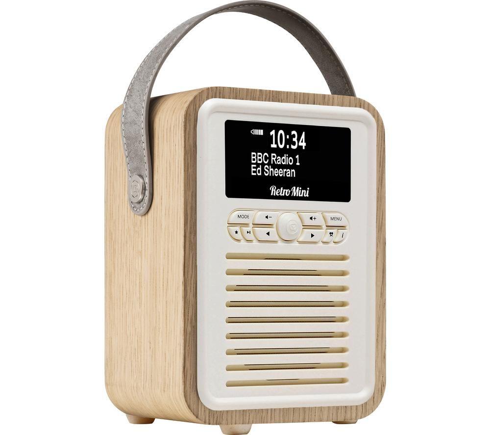Image of VQ Retro Mini Portable DABﱓ Bluetooth Radio - Oak