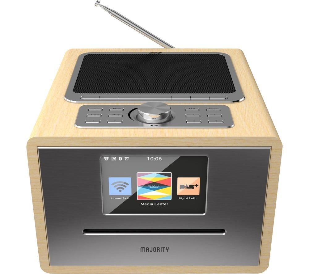 MAJORITY Homerton HOM-ALL-OAK UK DAB+/FM Smart Bluetooth Radio - Black & Wood