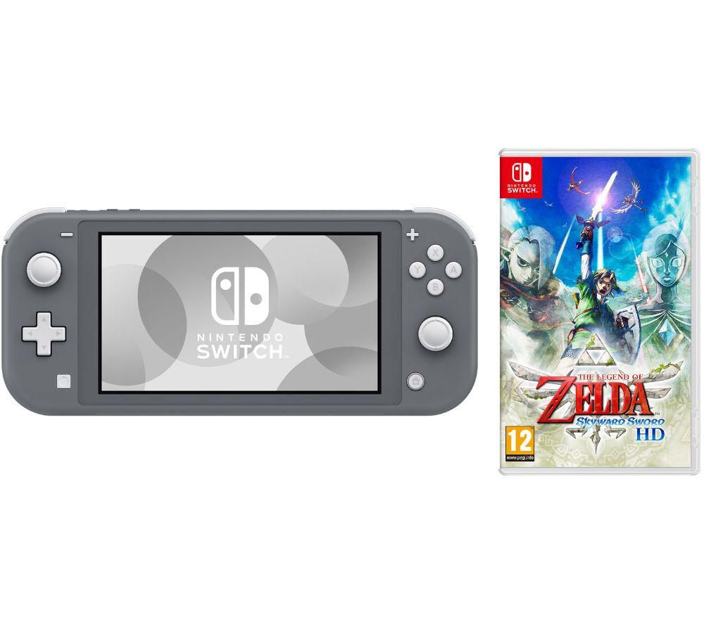 NINTENDO Switch Lite Grey & The Legend of Zelda: Skyward Sword Bundle