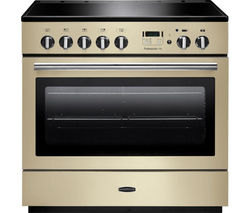 RANGEMASTER Professional+ 90 FX Electric Induction Range Cooker - Cream & Chrome Best Price, Cheapest Prices