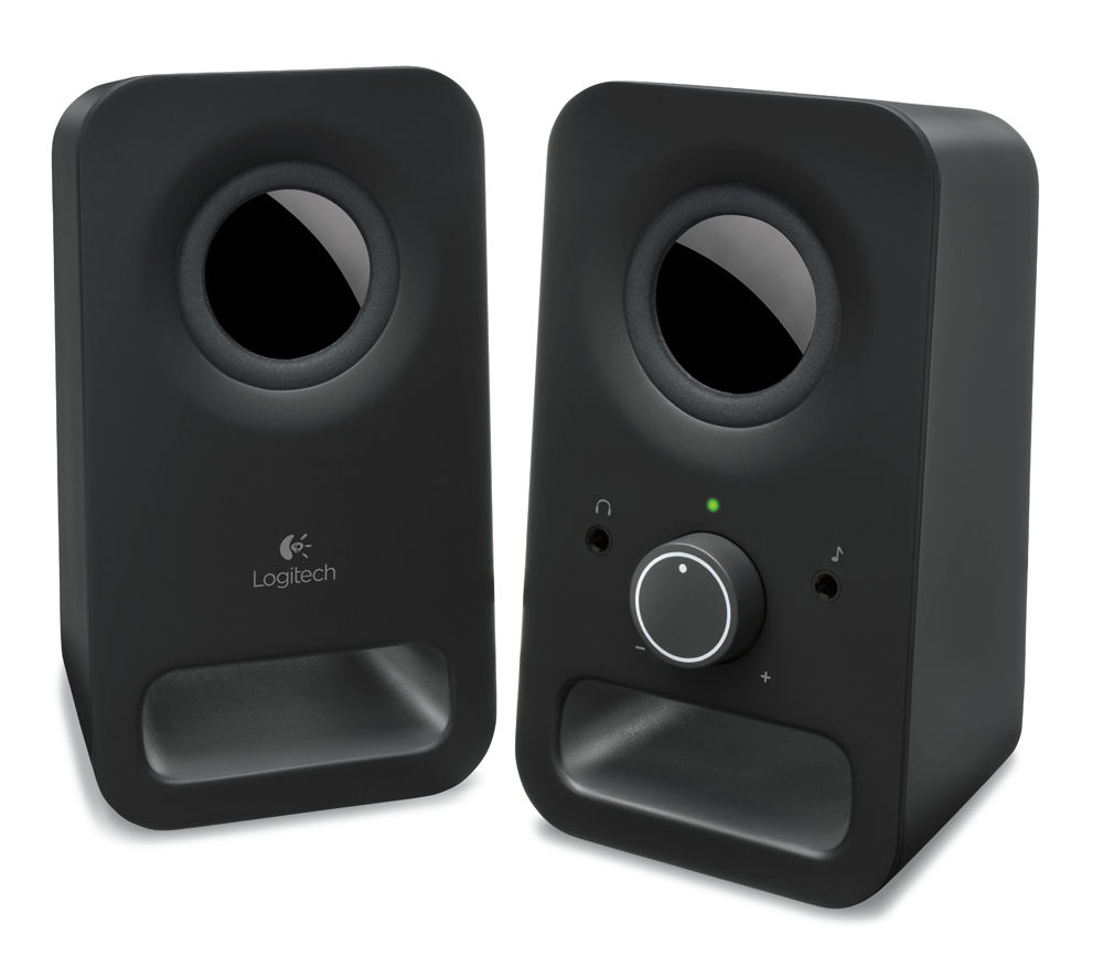 Image of LOGITECH Z150 Multimedia 2.0 PC Speakers, Black