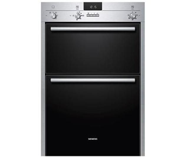 SIEMENS HB13MB521 Electric Double Oven - Stainless Steel & Black