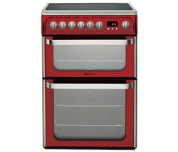 HOTPOINT Ultima DUE61R Electric Ceramic Cooker - Red