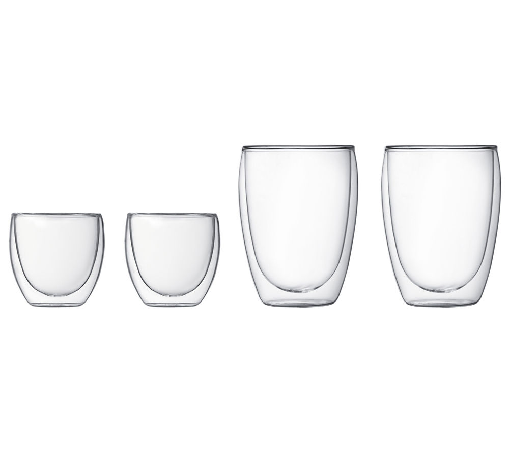 BODUM Pavina Double Wall Glass Set Glass Set - 4 pieces