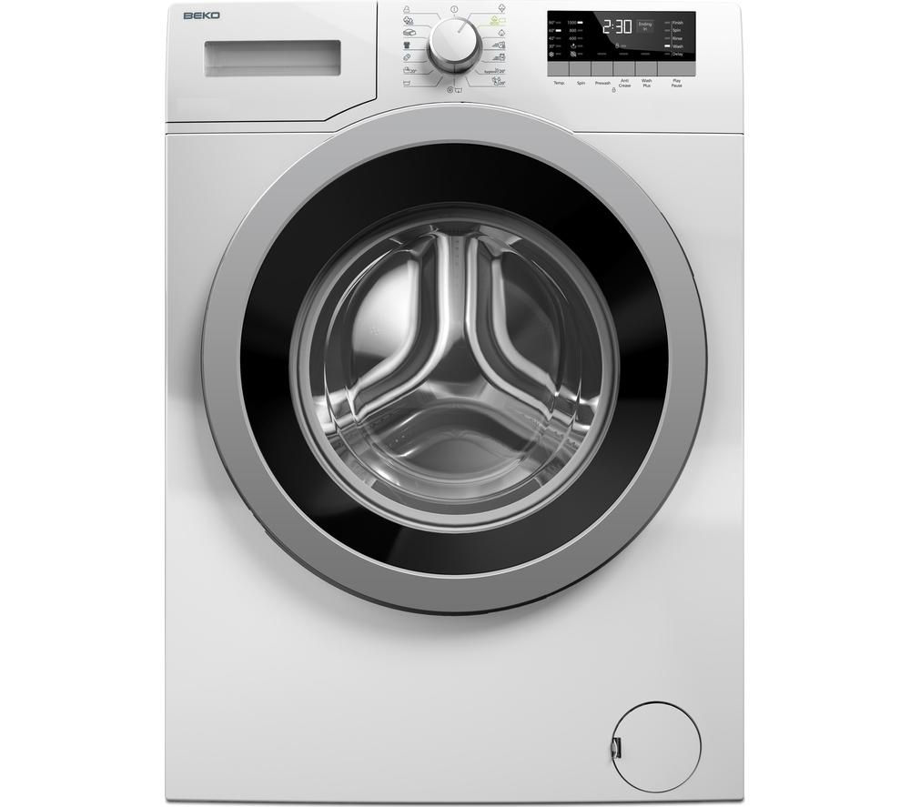 BEKO WX842430W Washing Machine - White + DCX71100W Condenser Tumble Dryer - White