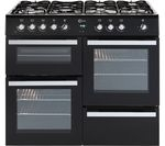FLAVEL Milano 100 MLN10FRK Dual Fuel Range Cooker - Black & Chrome