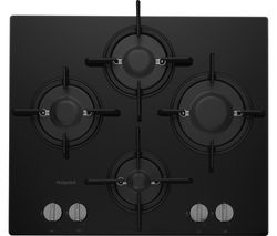 HOTPOINT FTGHG 641 D/H(BK) Direct Flame Gas Hob - Black