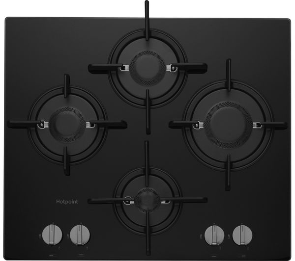 HOTPOINT Direct Flame FTGHG 641 D/H Gas Hob - Black