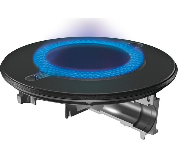 Buy hotpoint direct flame ftghg 641 d h gas hob black for Direct flame