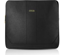 "GUESS Saffiono 11"" Leather Laptop Sleeve - Black"