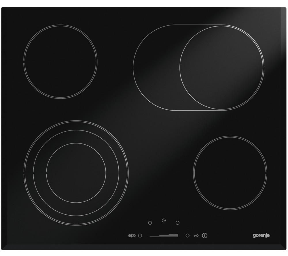 GORENJE ECS680UCS Electric Ceramic Hob - Black, Black