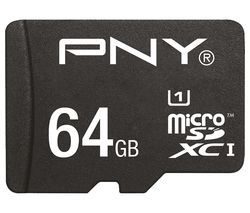 PNY High Performance Class 10 microSDHC Memory Card - 64 GB