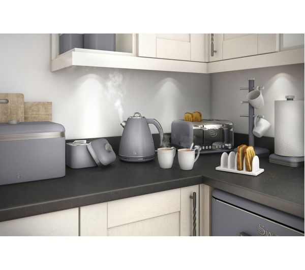 on line kitchen cabinets buy swan sk24030grn jug kettle grey free delivery currys 24030