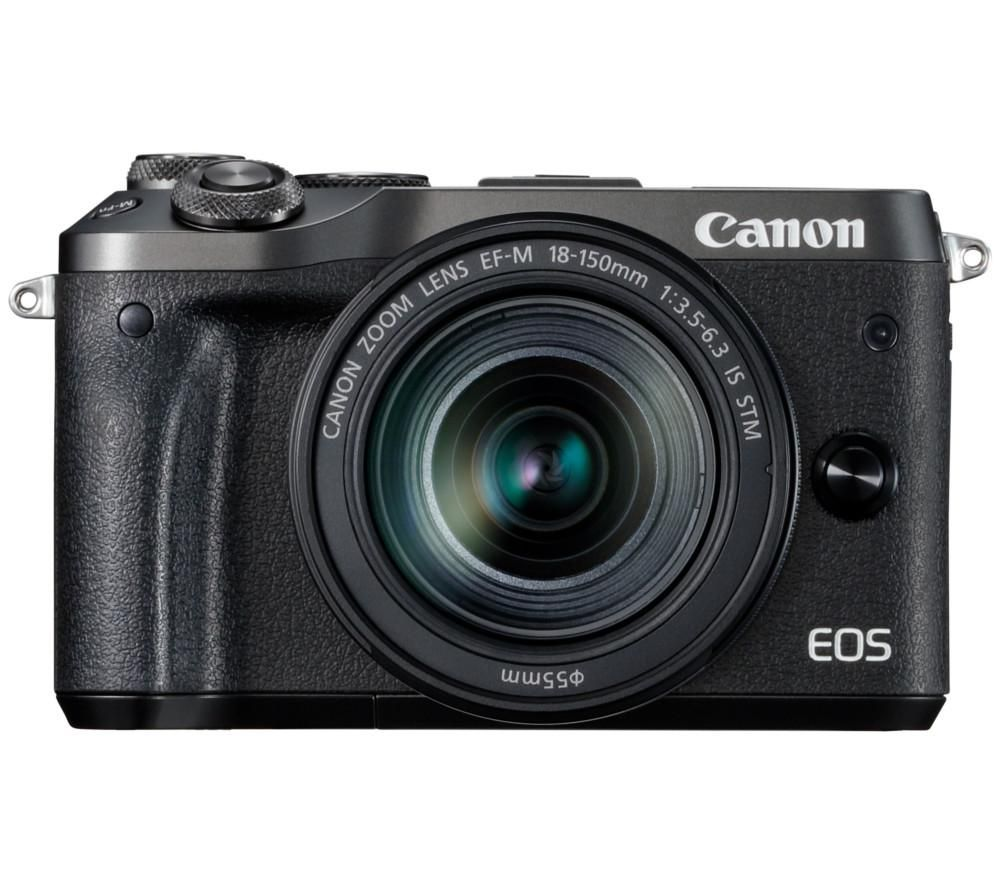 CANON EOS M6 Mirrorless Camera with EF-M 18-150 mm f/3.5-6.3 IS STM Lens + PHKP001 Tripod - Black