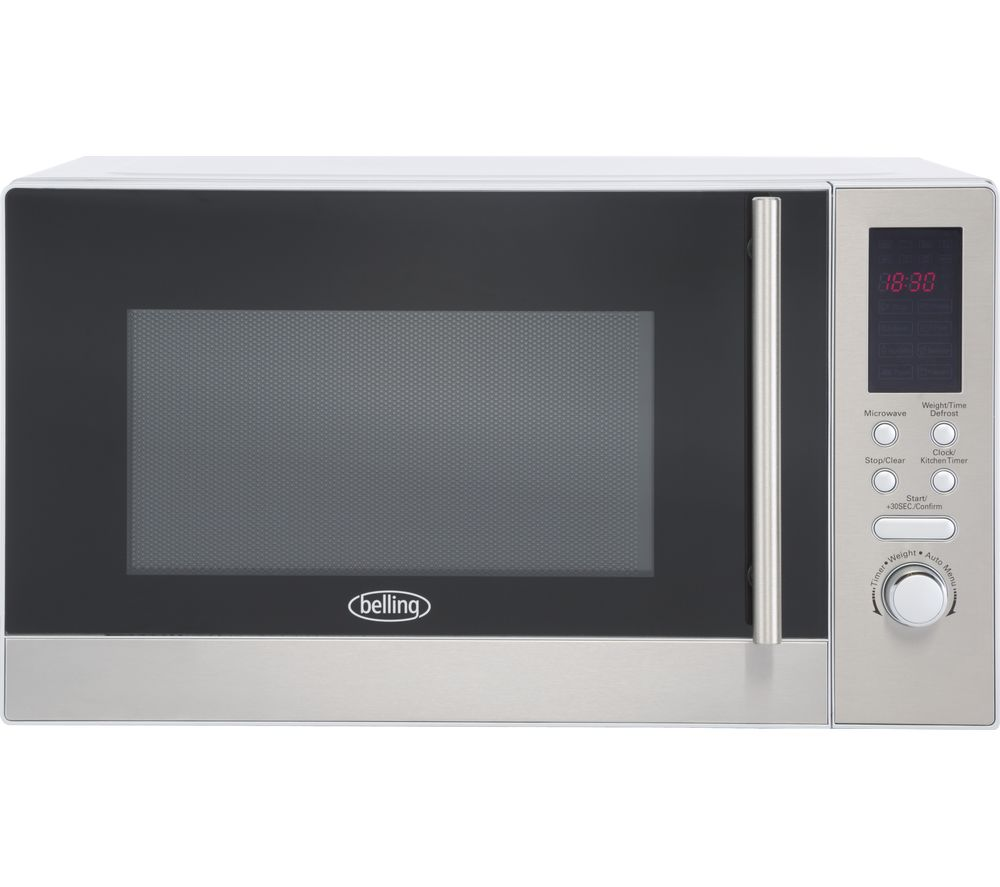 BELLING FM2380S Solo Microwave - Stainless Steel