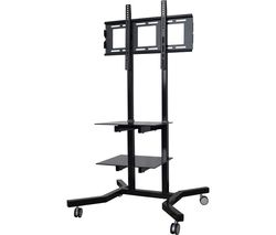 MMT Tower TV01 TV Stand with Bracket - Black