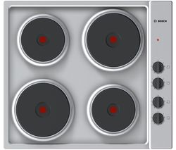 Serie 2 PEE689CA1 Electric Solid Plate Hob - Steel