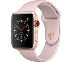APPLE Watch Series 3 Cellular - Pink, 42 mm